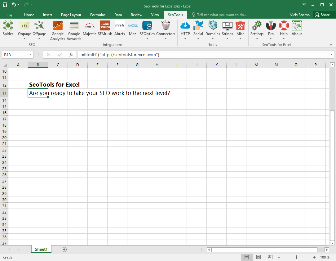 SeoTools Pro for Excel 7.0.11