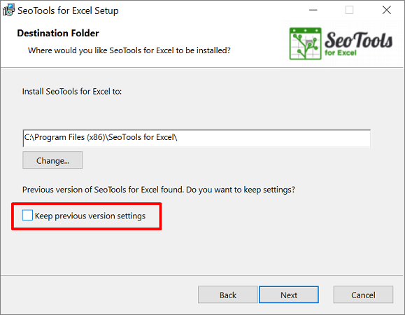 Upgrading Seotools for Excel